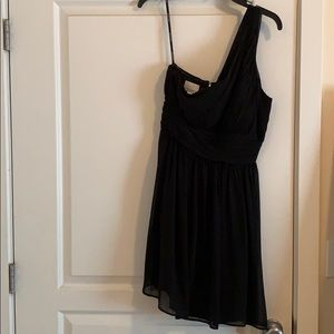 Donna Morgan black bridesmaid dress